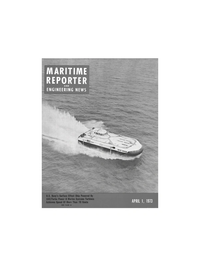 Maritime Reporter Magazine Cover Apr 1973 -