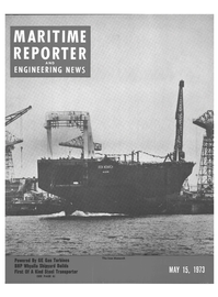 Maritime Reporter Magazine Cover May 15, 1973 -