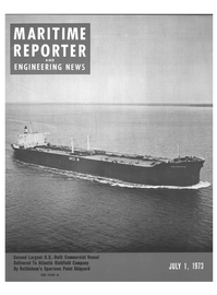 Maritime Reporter Magazine Cover Jul 1973 -
