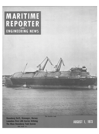 Maritime Reporter Magazine Cover Aug 1973 -