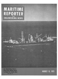 Maritime Reporter Magazine Cover Aug 15, 1973 -