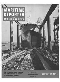 Maritime Reporter Magazine Cover Nov 15, 1973 -