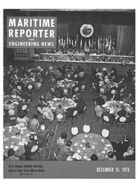 Maritime Reporter Magazine Cover Dec 15, 1973 -