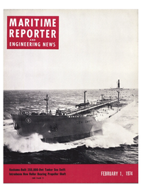 Maritime Reporter Magazine Cover Feb 1974 -