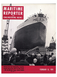 Maritime Reporter Magazine Cover Feb 15, 1974 -