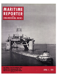 Maritime Reporter Magazine Cover Apr 1974 -