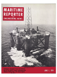 Maritime Reporter Magazine Cover Jun 1974 -