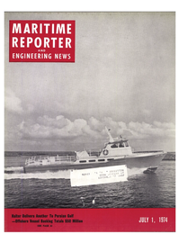 Maritime Reporter Magazine Cover Jul 1974 -