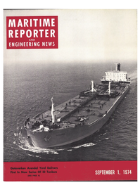 Maritime Reporter Magazine Cover Sep 1974 -