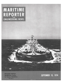 Maritime Reporter Magazine Cover Sep 15, 1974 -