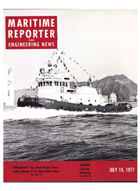 Maritime Reporter Magazine Cover Jul 15, 1977 -