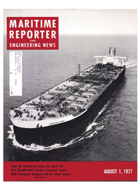 Maritime Reporter Magazine Cover Aug 1977 -