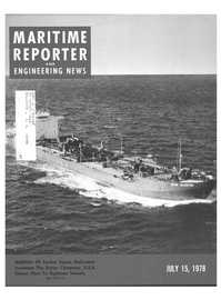 Maritime Reporter Magazine Cover Jul 15, 1978 -