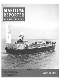 Maritime Reporter Magazine Cover Aug 15, 1978 -