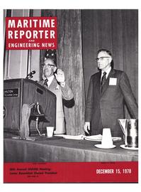 Maritime Reporter Magazine Cover Dec 15, 1978 -