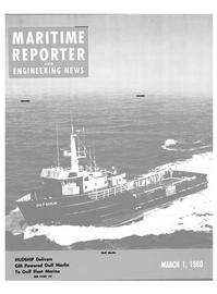 Maritime Reporter Magazine Cover Mar 1980 -