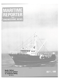 Maritime Reporter Magazine Cover Jul 1980 -