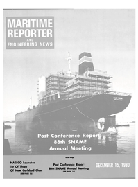 Maritime Reporter Magazine Cover Dec 15, 1980 -