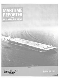 Maritime Reporter Magazine Cover Mar 15, 1981 -