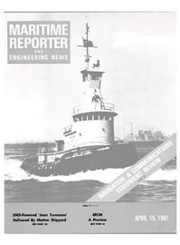 Maritime Reporter Magazine Cover Apr 15, 1981 -
