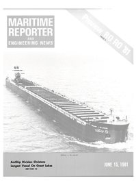 Maritime Reporter Magazine Cover Jun 15, 1981 -
