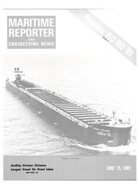 Maritime Reporter Magazine Cover Jun 15, 1981 -