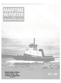 Maritime Reporter Magazine Cover Jul 1981 -