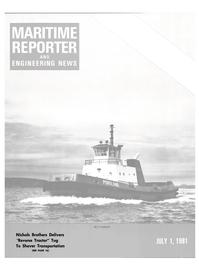 Maritime Reporter Magazine Cover Jul 1981 -