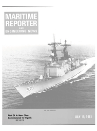 Maritime Reporter Magazine Cover Jul 15, 1981 -
