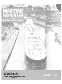 Maritime Reporter Magazine Cover Aug 15, 1981 -