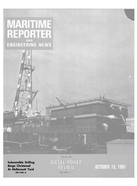 Maritime Reporter Magazine Cover Oct 15, 1981 -