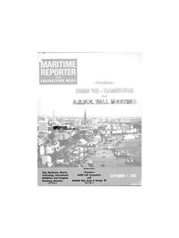 Maritime Reporter Magazine Cover Sep 1982 -
