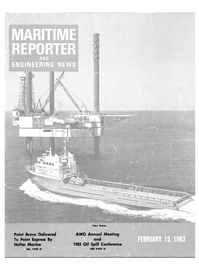 Maritime Reporter Magazine Cover Feb 15, 1983 -