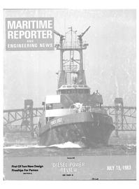 Maritime Reporter Magazine Cover Jul 15, 1983 -