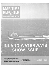 Maritime Reporter Magazine Cover Aug 1983 -