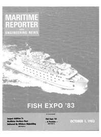 Maritime Reporter Magazine Cover Oct 1983 -