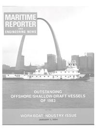 Maritime Reporter Magazine Cover Jan 1984 -