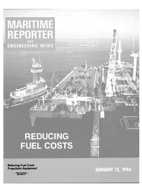 Maritime Reporter Magazine Cover Jan 15, 1984 -