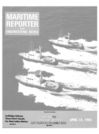 Maritime Reporter Magazine Cover Apr 15, 1984 -