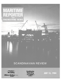 Maritime Reporter Magazine Cover Jul 15, 1984 -