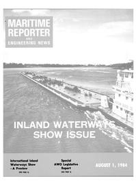 Maritime Reporter Magazine Cover Aug 1984 -