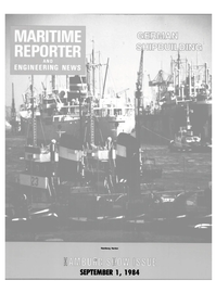 Maritime Reporter Magazine Cover Sep 1984 -
