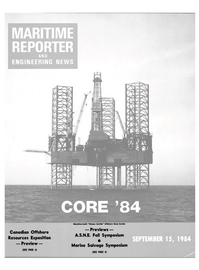 Maritime Reporter Magazine Cover Sep 15, 1984 -