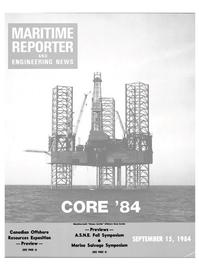 Maritime Reporter Magazine Cover Sep 15, 1984 -