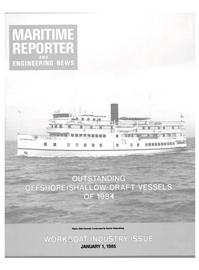 Maritime Reporter Magazine Cover Jan 1985 -