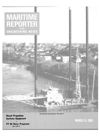 Maritime Reporter Magazine Cover Mar 15, 1985 -