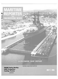 Maritime Reporter Magazine Cover May 1985 -