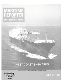 Maritime Reporter Magazine Cover Jul 15, 1985 -