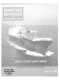 Maritime Reporter Magazine Cover Jul 15, 1985 -