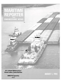 Maritime Reporter Magazine Cover Aug 1985 -